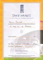 Safe Hands Certificate
