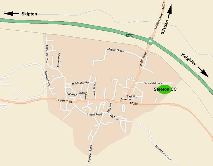 Steeton CC Map