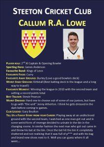 Callum Lowe